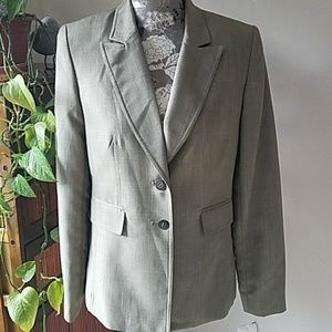 NWT Travis Ayers blazer Sz.6 khaki green plaid